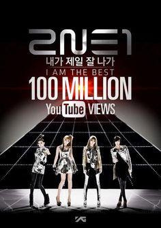 "YG Entertainment celebrates 2NE1's ""I Am The Best"" 100 million Youtube views | Koreaboo — breaking k-pop news, photos, and videos"