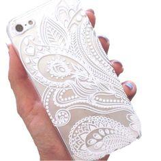 White Henna iPhone Case