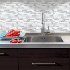 Attractive Smart Tiles Bellagio Blanco 10 In. Hx10.06 In. W Peel And Stick Design Inspirations