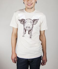 Look at this #zulilyfind! Cream Pig Wings Tee - Men by Choke Shirt Company #zulilyfinds