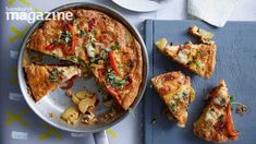 This classic frittata recipe from Lucy Jessop at Sainsbury& magazine celebrates the combination of smoked paprika, roasted pepper and manchego cheese Roasted Peppers, Peppers And Onions, Spanish Dishes, Spanish Recipes, Spanish Food, Sainsburys Recipes, Manchego Cheese, Food Plus, Frittata Recipes