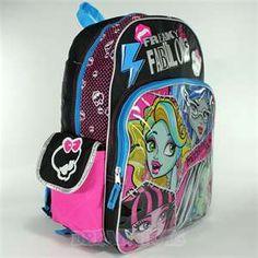backpack monster high school supplies