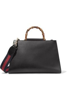 1de4bd8bc6a WISHLIST: Gucci Nymphaea Bamboo Leather Tote in Black Cosmetic Case, Large  Bags, Smooth
