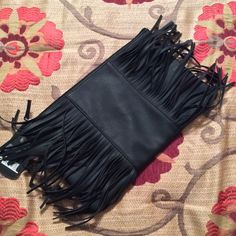 """Black bag Black beauty bag. Use as makeup bag or clutch! Measurements are: 12"""" x 7.5"""" Bags Cosmetic Bags & Cases"""