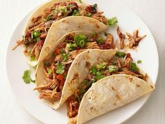 Slow-Cooker Turkey Mole Tacos : Mole can be an intimidating sauce to make for tacos. By adding spices that include chile powder, cocoa powder and Chinese five-spice powder to a slow cooker, you'll have a mole-inspired sauce without the fuss. Slow Cooker Turkey, Crock Pot Slow Cooker, Crock Pot Cooking, Slow Cooker Recipes, Crockpot Recipes, Cooking Recipes, Tacos Crockpot, Cooking Bacon, Cooking Oil