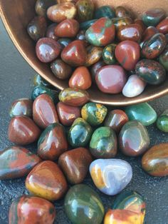 Fancy Jasper tumbled Stone,  //magical crystal, wire wrap crystal, chakra crystal, meditation, jasper crystal, colorful jasper crystal by thisthatandthese on Etsy https://www.etsy.com/listing/259620699/fancy-jasper-tumbled-stone-magical