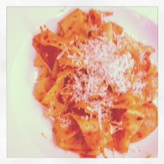 Perfect, quick supper Pappardelle with King Prawns, Sacla Spicy Pesto and Grana Padano