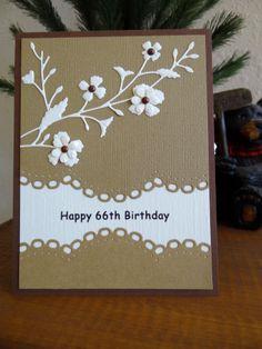 Happy Birthday with Memory Box die, Spellbinder die, and Nellie Snellen flower punch