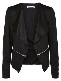 Faux suede blazer from Noisy may
