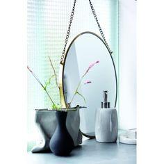 House Doctor Bonlina Circular Mirror on Chain - Silver Finish