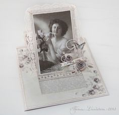 Easel card Theresa, featuring the Alma's Sewing Room collection