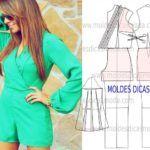 MACACÃO FÁCIL DE FAZER-8 | Moldes Dicas Moda Dress Sewing Patterns, Ideias Fashion, Show, Sweaters, How To Wear, Dresses, Red Jumpsuit, Casual Jumpsuit, Models