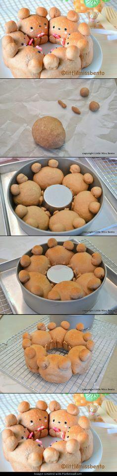 Cocoa Teddy Bear Bread Recipe ココアくまパンのレシピ