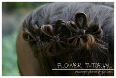 Girly Do Hairstyles: By Jenn: Hair Flowers For Eva's school pictures
