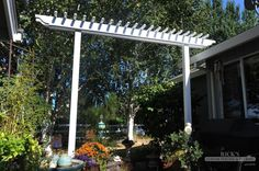 Simple Arbor design for the Wisteria out front Garden Arbor With Gate, Wisteria Arbor, Arbor Ideas, Yard Ideas, Amazing Gardens, Fence, Pergola, Outdoor Structures, Patio
