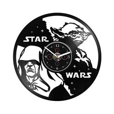 Clock Yoda Vinyl Wall Clock Gift For Man Clock Star Wars 12 inch Star Wars Wall Clock Vintage Vinyl Wall Clock Star Wars Birthday Gift Star Wars Vinyl Wall Clock Star Wars Clock Gift Star Wars Wall Clock Gift, Star Wars Birthday, Star Wars Gifts, Kitchen Dining, Birthday Gifts, Amazon, Stars, Vintage, Birthday Presents