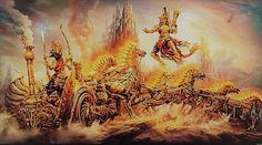 O Maabárata, é um dos dois maiores épicos clássicos da Índia, juntamente com o Ramáiana. Ele tem mais de 74 000 versos, e mais de 1,8 milhões de palavras...
