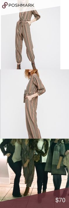 Gorgeous free people jumpsuit! Gorgeous plaid with specs of sparkle in it!!!! So pretty and received tons of compliments when worn Free People Pants Jumpsuits & Rompers