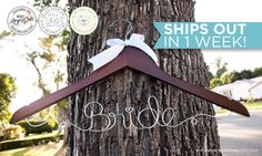 Handmade Bride Wedding Dress Hanger