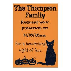 Halloween Party Invitation. Card - invitations custom unique diy personalize occasions