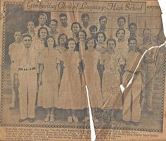LaGrange High School Graduation Class about 1934 Melvin Hebert at bottom right Louisiana History, Lake Charles, Family History, Family Photos, The Row, Vintage World Maps, High School, Graduation, Logs