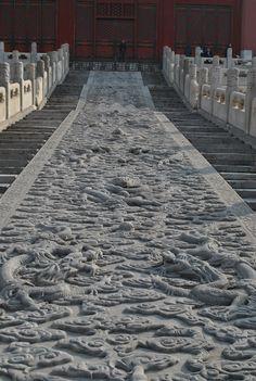 Stonescape between stairs, Forbidden City, Beijing