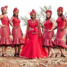 Here in South Africa, SHWESHWE ATTIRES DRESSES are always a way to make a statement with your fashion choices. They are so cherished and loved and affordable. Setswana Traditional Dresses, Venda Traditional Attire, African Traditional Wear, African Traditional Wedding Dress, Traditional Wedding Attire, Modern Traditional, African Print Wedding Dress, African Wedding Attire, African Attire