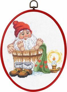 Julebilleder - Permin DK Hedgehog Cross Stitch, Santa Cross Stitch, Christmas Stocking Pattern, Christmas Cross, Cross Stitching, Cross Stitch Embroidery, Cross Stitch Designs, Cross Stitch Patterns, Snowman Christmas Decorations