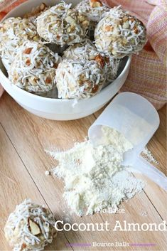 No bake coconut almond protein balls are filled with healthy ingredients and make the easiest, on the go snack.