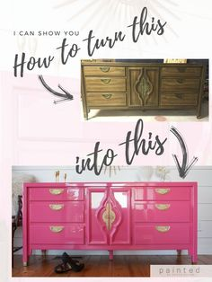 I can show you how to create scroll stopping, high gloss pieces of furniture. If you're ready to Lacquer Furniture, Painted Bedroom Furniture, Refurbished Furniture, Repurposed Furniture, Cheap Furniture, Furniture Projects, Rustic Furniture, Furniture Making, Furniture Makeover