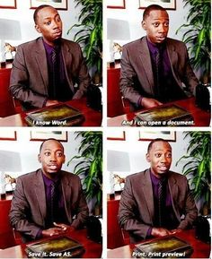 """When Winston nailed his job interview. 28 """"New Girl"""" Quotes Guaranteed To Make You Laugh Every Time New Girl Season 1, Girls Season, I Love To Laugh, Make Me Smile, Funny Cute, The Funny, New Girl Funny, New Girl Quotes, Tv Quotes"""