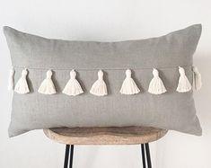 Grey Throw Pillows, Lumbar Throw Pillow, Boho Pillows, Burlap Pillows, Custom Pillows, Decorative Pillows, Handmade Pillows, Diy Throws, Diy Pillow Covers