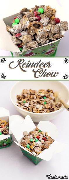 Make sure to feed Santa's Reindeer with this fun Reindeer Chow! Then package up the leftovers for them to take it to-go!