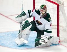 Minnesota Wild goalie Devan Dubnyk (40) faces the Dallas Stars attack during game one of the first round of the 2016 Stanley Cup Playoffs at American Airlines Center. The Stars shut out the Wild 4-0.  #9257330