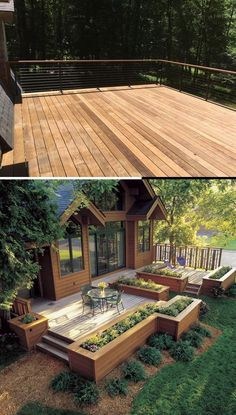Great Deck Ideas & Designs Cool Deck, Diy Deck, Simple Diy, Easy Diy, Cheap Diy Home Decor, Deck Decorating, Project Ideas, Projects, Diy Crafts For Gifts