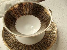Vintage Winterling Marktleuthen Bavaria porcelain tea cup set