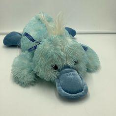 "Walmart Blue Duck Laying Down Platypus Plush Soft Toy Stuffed Animal 16"" #Walmart"