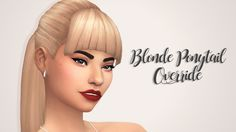 for some reason, the blonde swatch of this ponytail included in the new update is super grey toned and it does not match all the other EA blonde swatches, so i maxis match'd it! check out the...