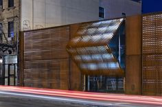 operable corten shutters: Wyckoff Exchange, Brooklyn, NY, United States by: Andre Kikoski Architect Entry Doors, Entrance, Garage Doors, Architecture Desk, Kinetic Architecture, Architectural Section, Adaptive Reuse, Corten Steel, Commercial Architecture