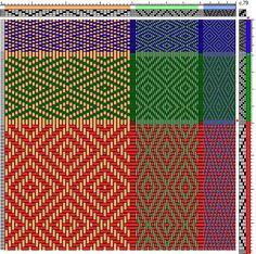 Modifying draft - Visit Weavolution to discuss Modifying draft. Learn weaving from Weaving Teachers. Inkle Weaving, Weaving Tools, Paper Weaving, Weaving Textiles, Weaving Projects, Bead Weaving, Weaving Designs, Weaving Patterns, Pattern Drafting