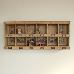 Wooden 12 Section Wall Storage Unit