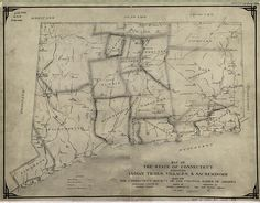 Map of CT - Indian Trails and Sachemdoms