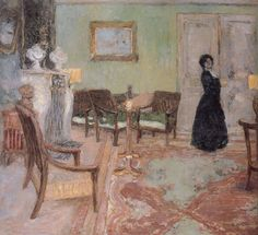 Edouard Vuillard - Woman Standing in the Living Room