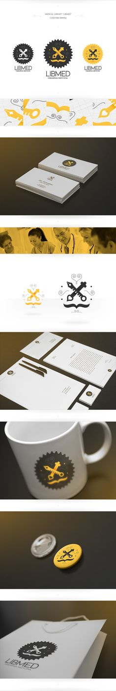 LIBMED - Medical Library by Piotr Kozak, via Behance
