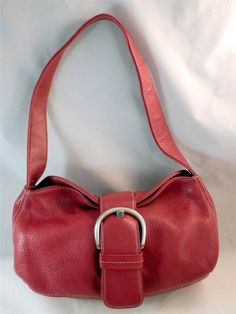 Gorgeous and perfect for any time of year.  Franco Sarto Handbag Red Leather Pebbled Tote Satchel  #ladylindasloft