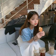 Image may contain: 1 person, indoor Pretty Korean Girls, Cute Korean Girl, Korean Aesthetic, Aesthetic Girl, Girl Fashion, Fashion Outfits, Ulzzang Korean Girl, Korean Fashion, Poses
