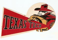 Texas Tech | 1958 Banner #football #texastech