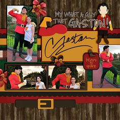 Gaston - Disney scrapbook page