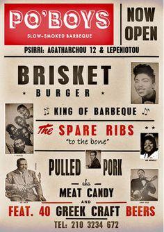 Picture Pulled Pork Meat, Brisket Burger, Greek Crafts, Spare Ribs, Craft Beer, Bbq, Barbecue, Pork Ribs, Barrel Smoker