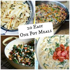 20 Easy One Pot Meals are your answer when the exhaustion sets in and you don't know what to make for dinner.  Forget about dirtying five pots and just use one! This round-up is sure to satisfy everyone's appetite. // A Cedar Spoon